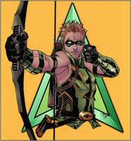 Green Arrow_Lines Tim Green II Colors Doug Garbark by DougGarbark