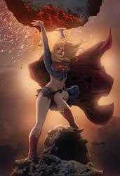 Supergirl Version 2 colors by Doug Garbark by DougGarbark