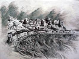 Nessebar's coastline by XDimov