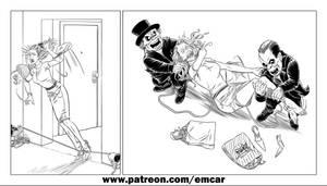 Annie vs The Horror Dwarfs (Line version) by theodule