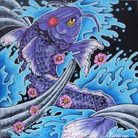 Purple Koi by ecce-one