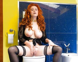 The blue restroom II by LeJunn