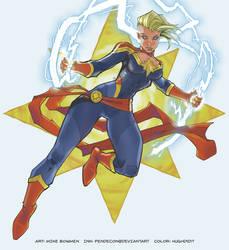 Captain Marvel by hughdidit