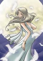 Lonely Goddess Moon by zero-sum