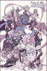 Ladies of Marvel Tonal Markers by torsor