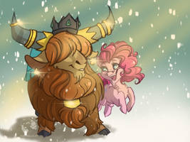 Bouncing in a Winter Wonderland - RutherPie by DrawingJules