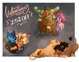 25% OFF - Valentine's Commissions by DrawingJules