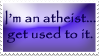 Atheist stamp by opheliareturns