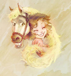 Horse year 2014 with Tangled by Naibe