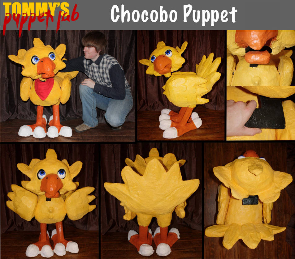 Chocobo Puppet (tutorial available) by TommyGK