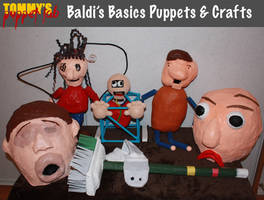 Baldi's Basics Puppets and Cosplay by TommyGK