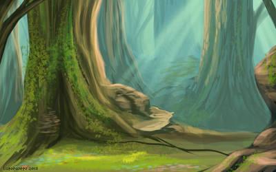 Enchanted wood - speedpaint by Lunewen