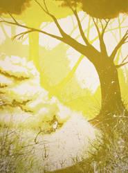 Splashed woods by Lunewen