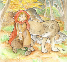 Little Red Riding Hood by Caravaggia