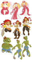 Princesses, pirates, zombies by Caravaggia