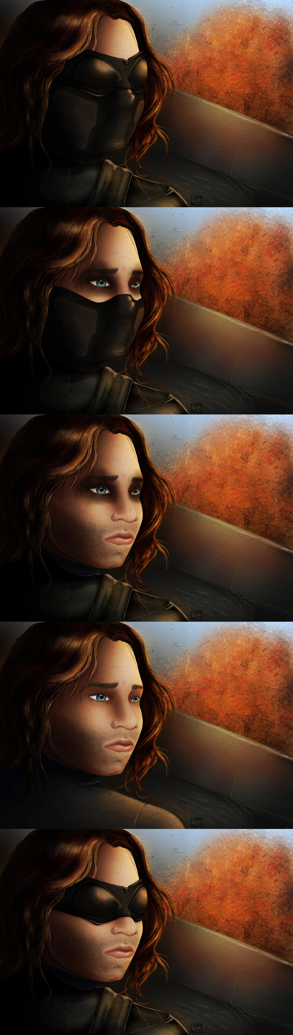 Winter Soldier studies by Caravaggia