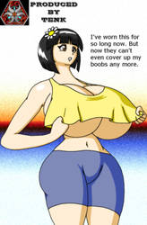 April's small top has too much underboobage. by ThEmbrsmntNinjaKitty