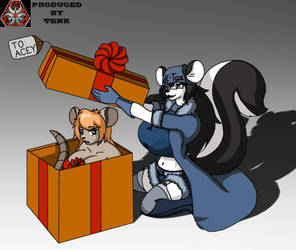 Gift Art: A present for a little fox by ThEmbrsmntNinjaKitty