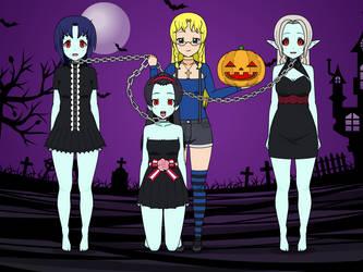 Sabrine's Vampires (Halloween request) by MexiGojira