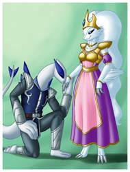 Gwen and Lugia Knight by Crovirus by Ninetalesuk