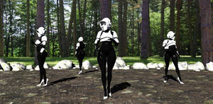 Female Imperial Scouts on Endor by Tazirai