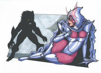 Psylocke Inferno series Pic 10 Sabertooth rematch by Tazirai