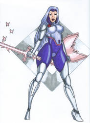 Psylocke Psychic Knight by Tazirai