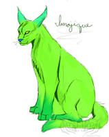 Sketch- Imajique Caracal by Darkend-Tigress