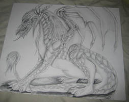 Dragon-Pencil by Darkend-Tigress