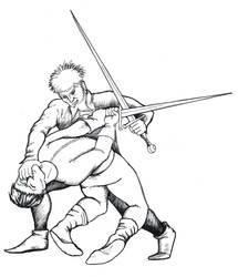 Fiore Takes Down an Opponent by warriorneedsfood