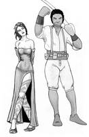 Two characters from an upcoming comic. by warriorneedsfood