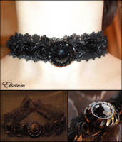 Victorian Goth Choker by elixiumgothic