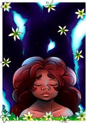 Harlowe and the rain flower by CreatoreMagico
