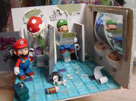 figure Mario bross and luigi by espectrolune