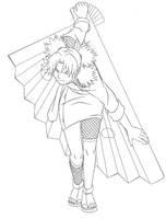 Temari Lineart by pureakatsuki