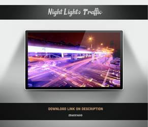 City Lights Traffic Wallpaper by theminimalisto