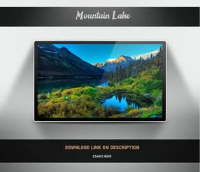 Mountain Lake Wallpaper by theminimalisto