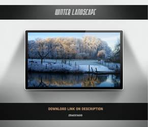 Winter Landscape Wallpaper by theminimalisto