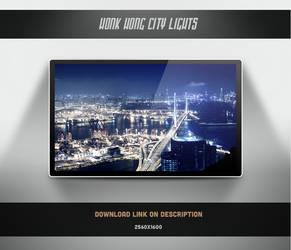 Honk Hong City Lights Landscape by theminimalisto