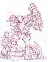Cable red pencils by Fpeniche