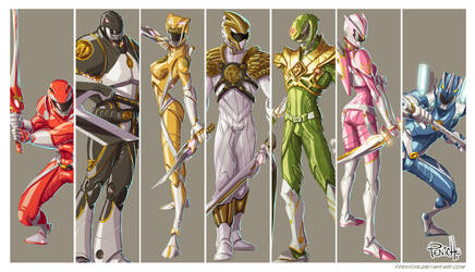 Power Rangers first Generation by Fpeniche
