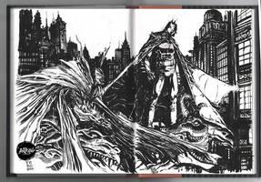 Batman Spawn Inktober day 2 and 3 by Fpeniche