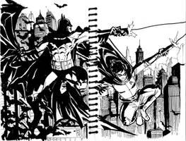 Batman and Robin by Fpeniche