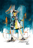 Eleven from Stranger Things by favius