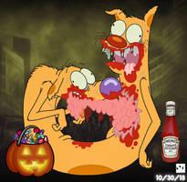 Zombie CatDog by Luxojr888