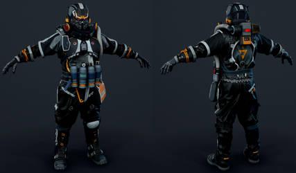 Killzone Shadow Fall - Helghast Engineer by luxox005