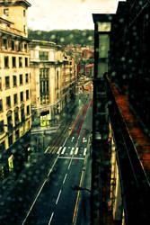 Rainy day behind the window by Stilllife-Txa