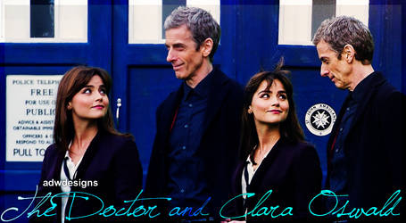 The 12th Doctor and Clara Oswald Blend by feel-inspired