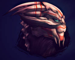 Video tutorial - Turian Portrait 3 FINAL by Krubbus