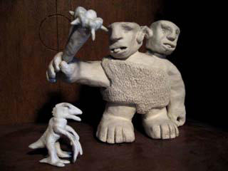 Ettin sculpture by XoLore
